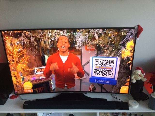 ITV started using QR today
