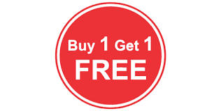 Buy one get one free connected to QR from Maltix