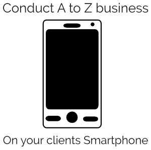 Conduct A to Z business on your clients smartphone