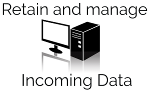 incoming data